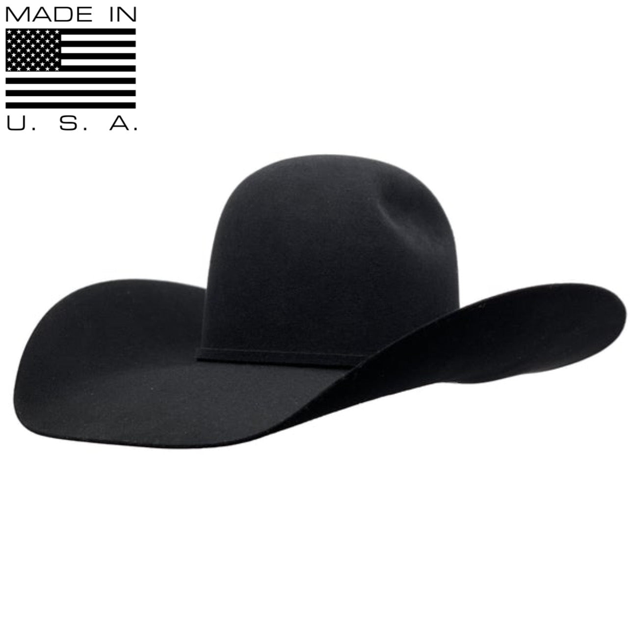 "Rodeo King ""Black"" Felt Cowboy Hat (5"" Brim)"