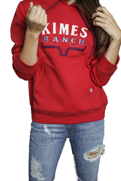 KIMES RANCH LADIES SOUTHWEST HOODIE (RED)