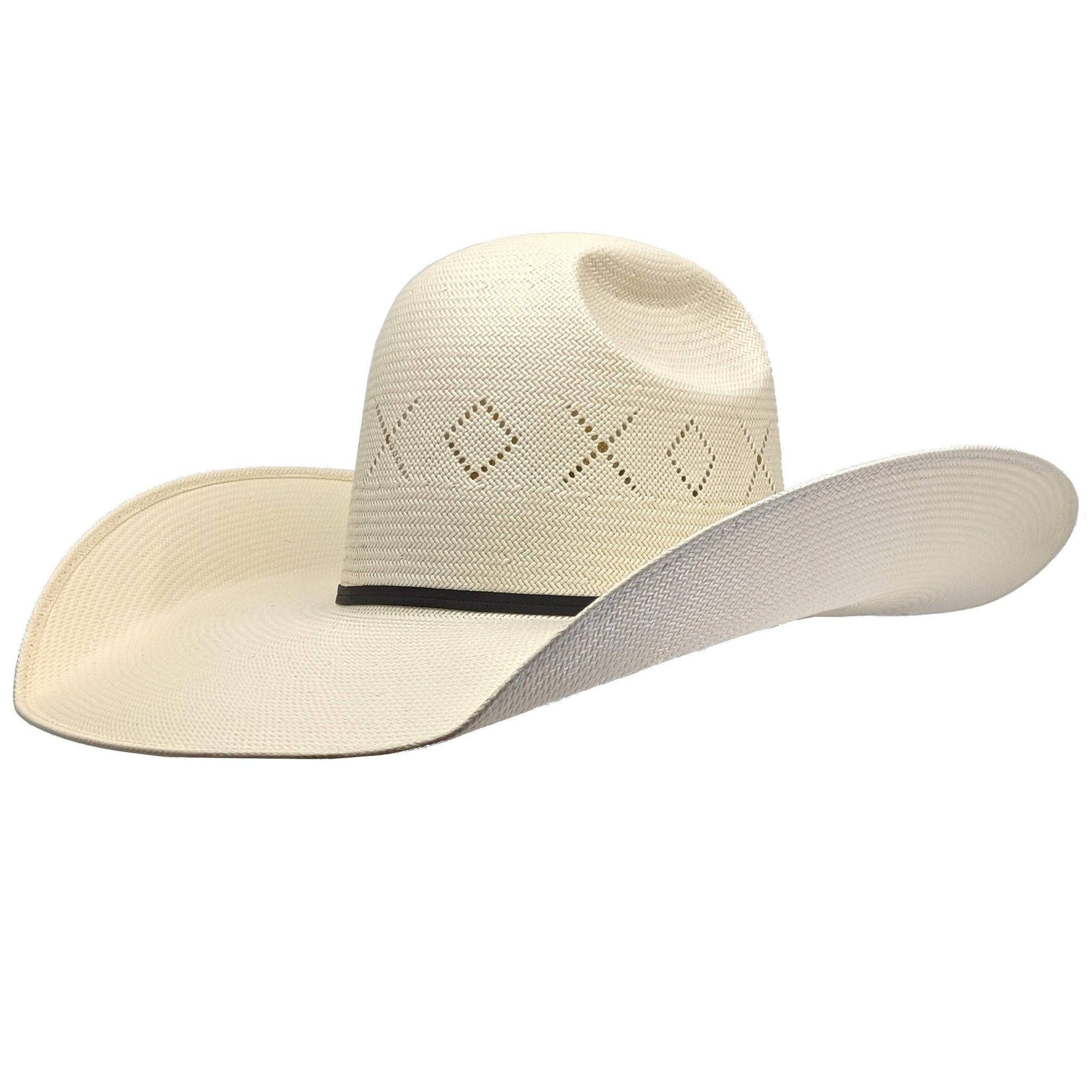 "Twister Natural Shantung Straw Cowboy Hat (5"" Brim)"