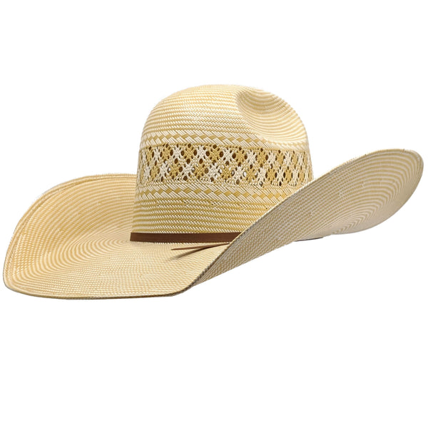 "Twister Whiskey Two Cord Shantung Straw Hat ( 5"" Brim)"