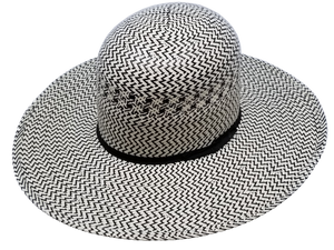 "Biggar Hats ""Zig Zag Black"" Straw Hat"