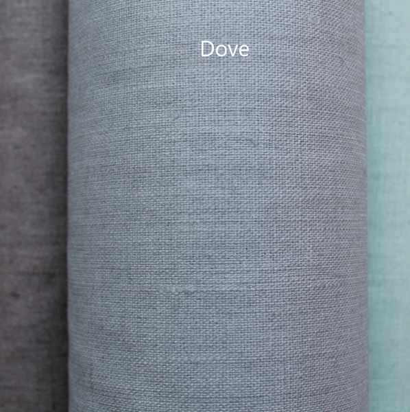 Coated linen tablecloth - Dove