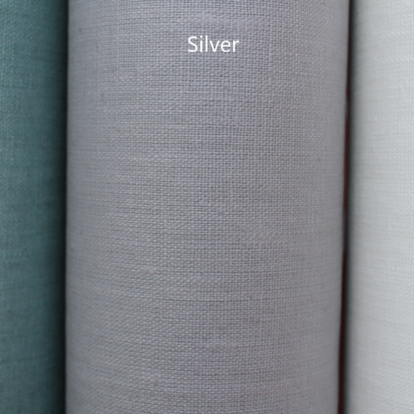 Coated Linen Tablecloth - Silver