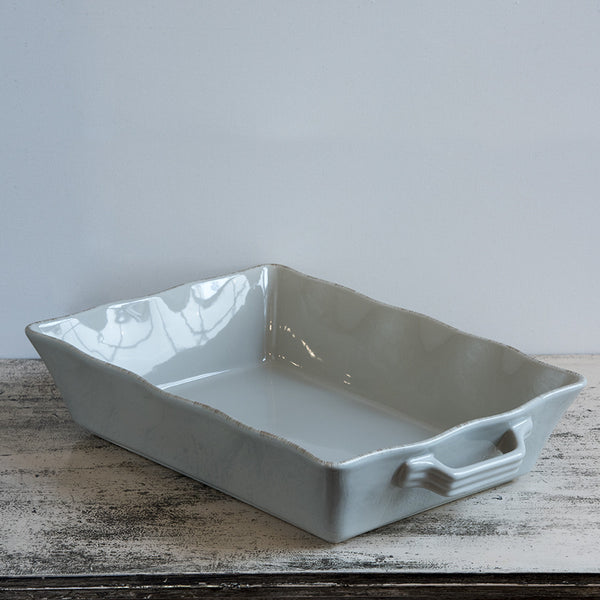 Ceramic Ovenware Dish - Large Rectangular Taupe