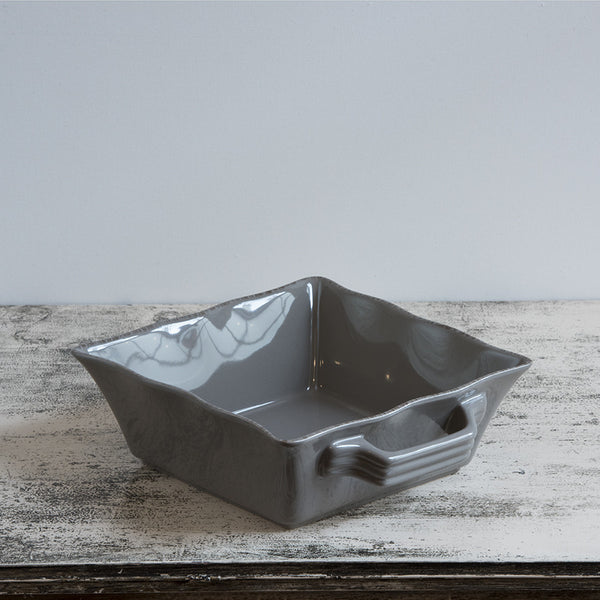 Ceramic Ovenware Dish - Small Square Mink