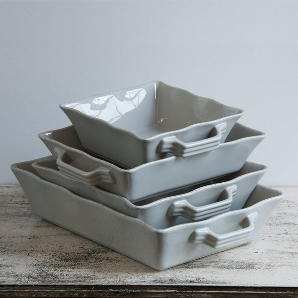 Ceramic Ovenware Dishes - Set of Four in Taupe