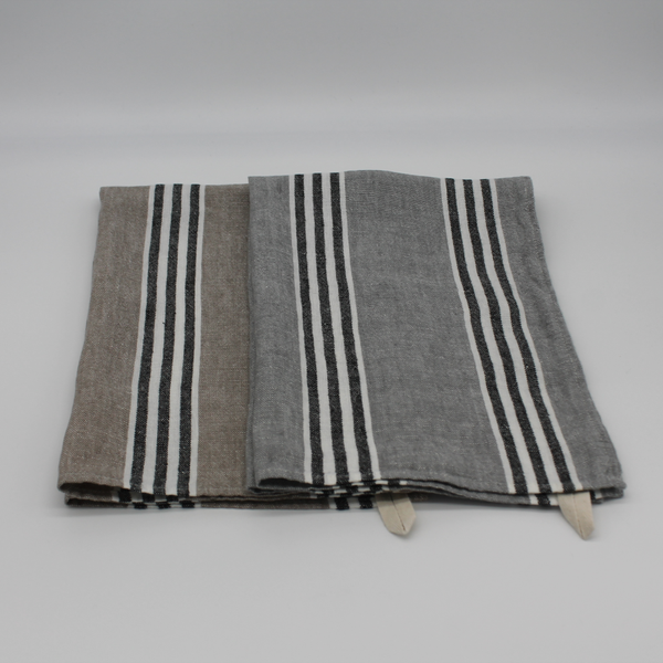 100% Linen Tea Towel - Marquee Grey