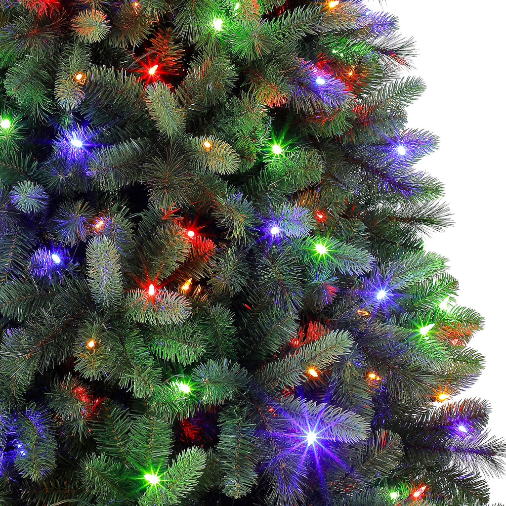 Holiday Time Pre-Lit 7.5\' Norwich Spruce Christmas Tree, Color  Changing-Lights
