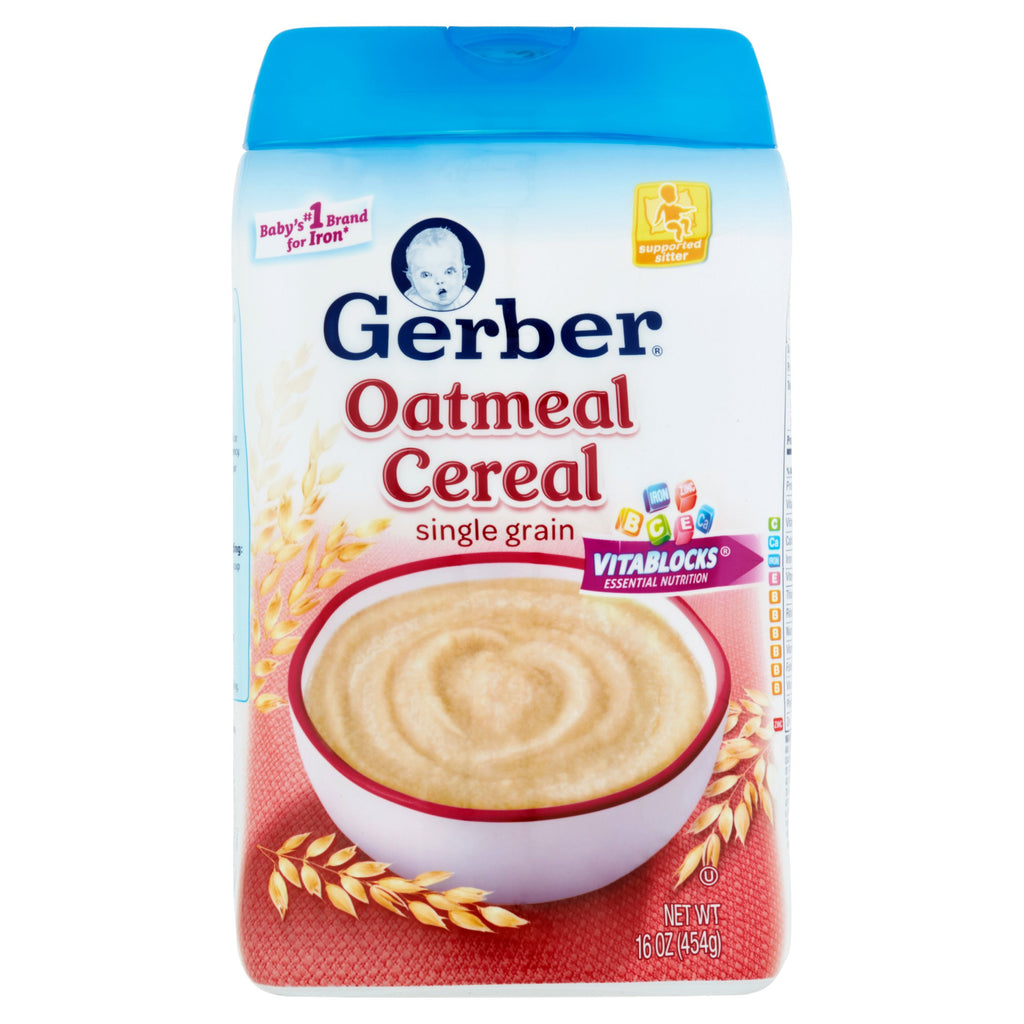 Gerber Baby Cereal, 16oz (Various Flavors)