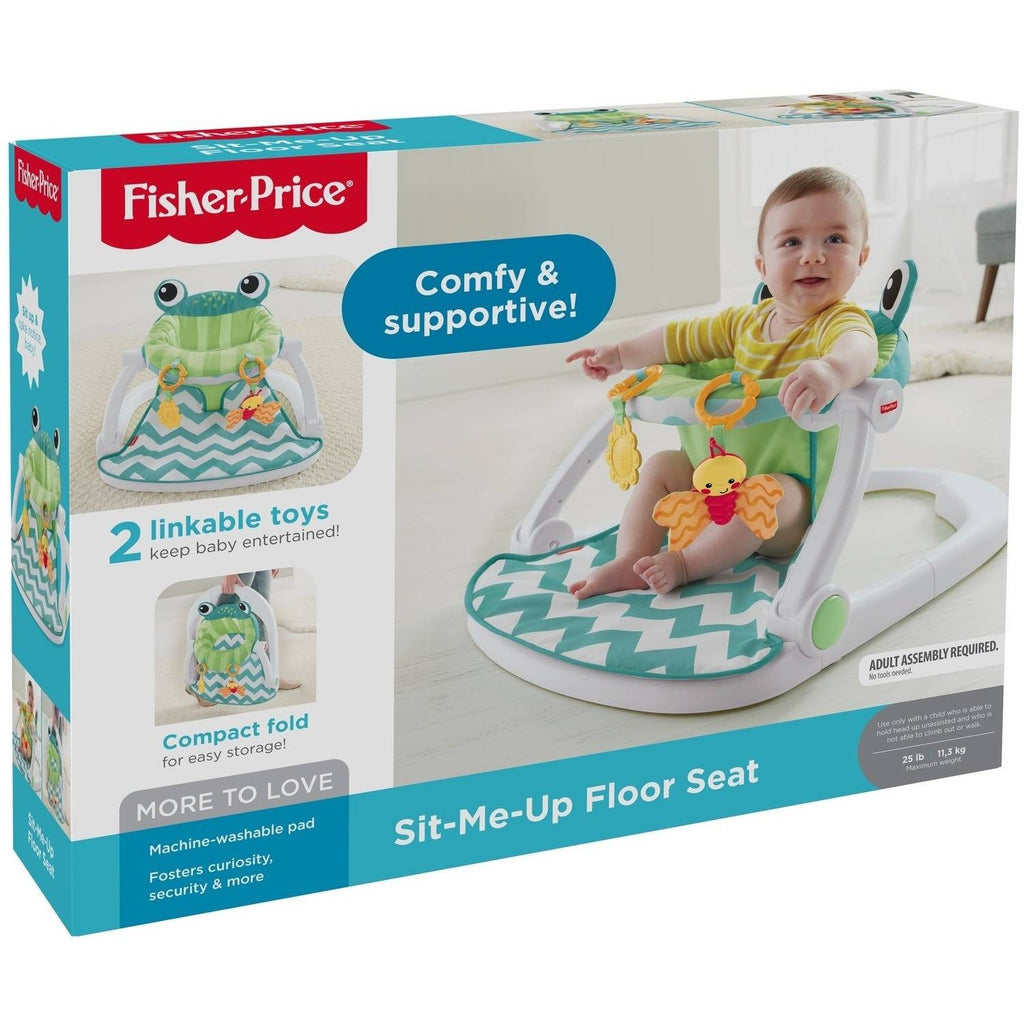 Fisher Price Sit-Me-Up Floor Seat, Citrus Frog – Island Cooler ...