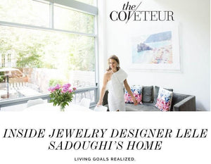 Inside Lele Sadoughi's Home with The Coveteur