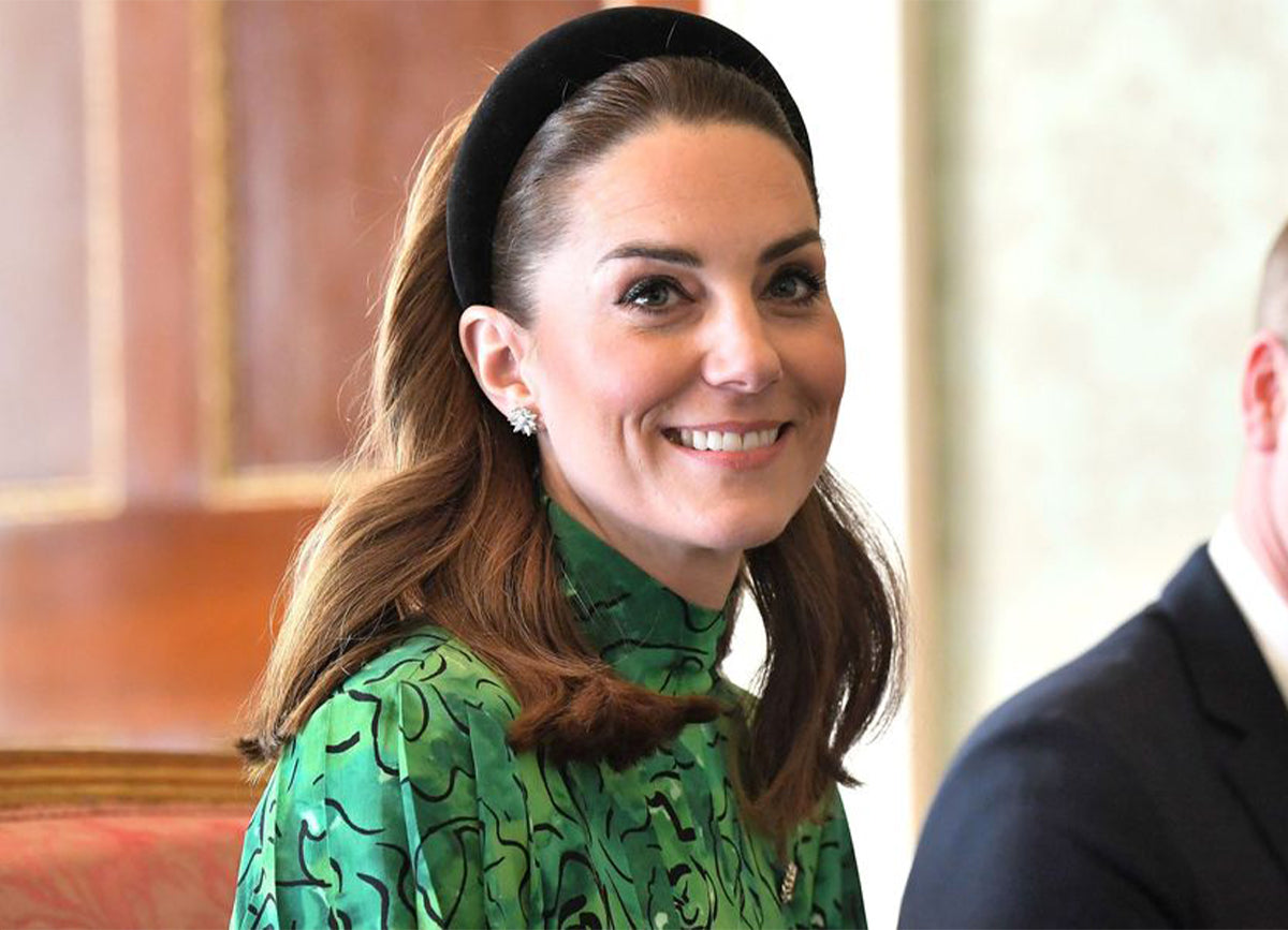 Kate Middleton Wears Lele Sadoughi Padded Headband in Ireland