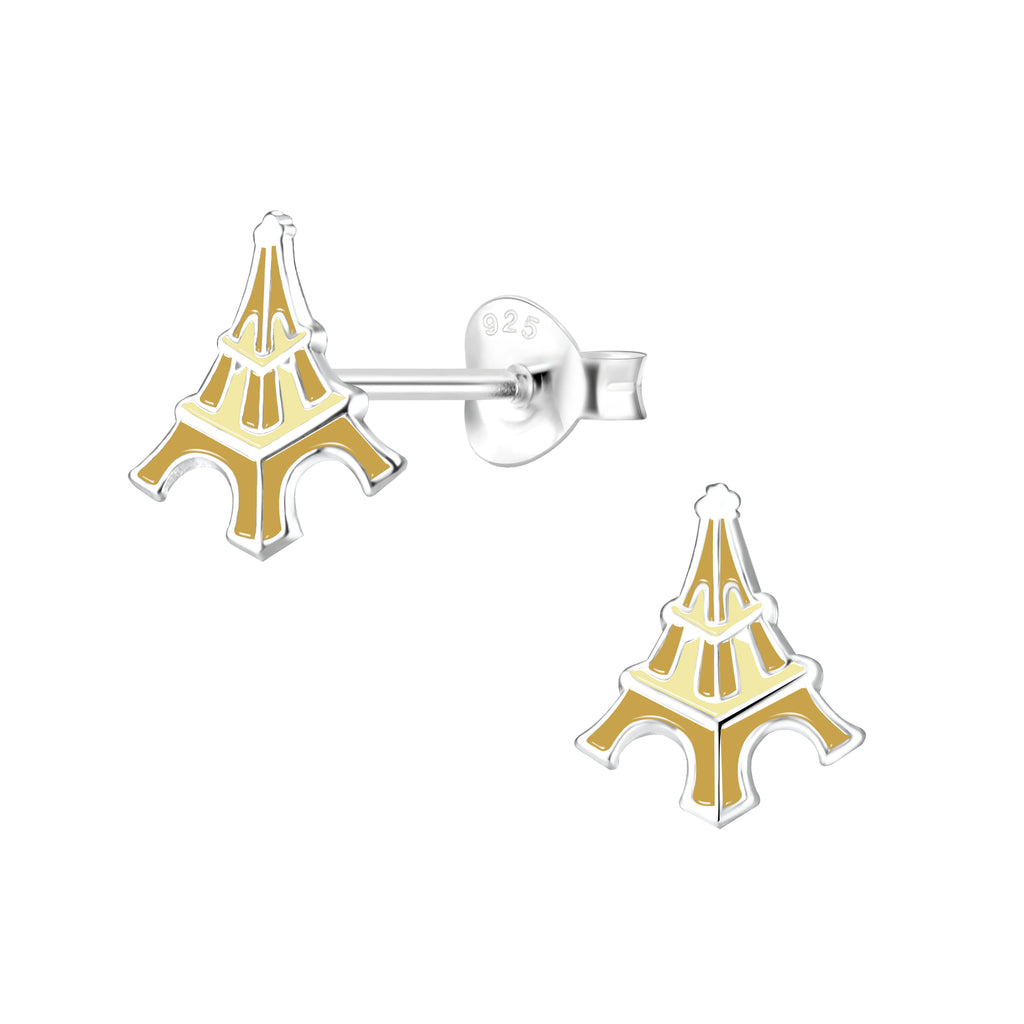 Children's Sterling Silver Eiffel Tower Stud Earrings