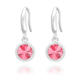 Rivoli 6mm Silver Earrings with Swarovski Crystal (Clear)