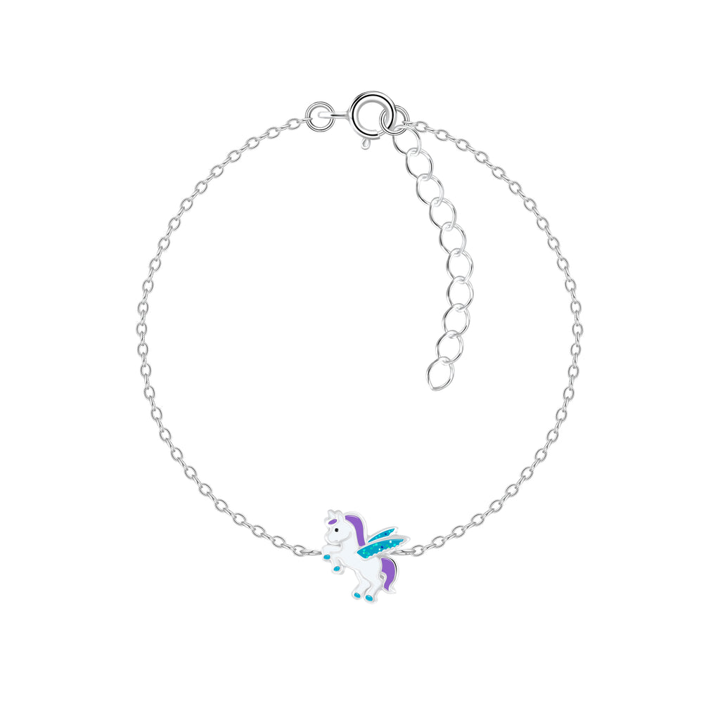 Sterling Silver Unicorn Bracelet