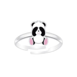 Sterling Silver Adjustable Panda Bear Ring