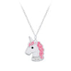 Children's Sterling Silver Pink Unicorn Necklace