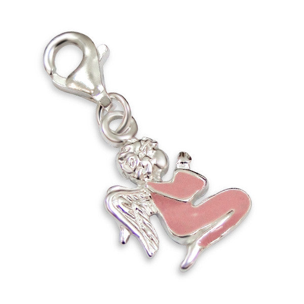 Sterling Silver Angel Clip On Charm