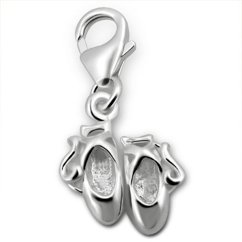 Sterling Silver 3D Ladybird Clip On Charm