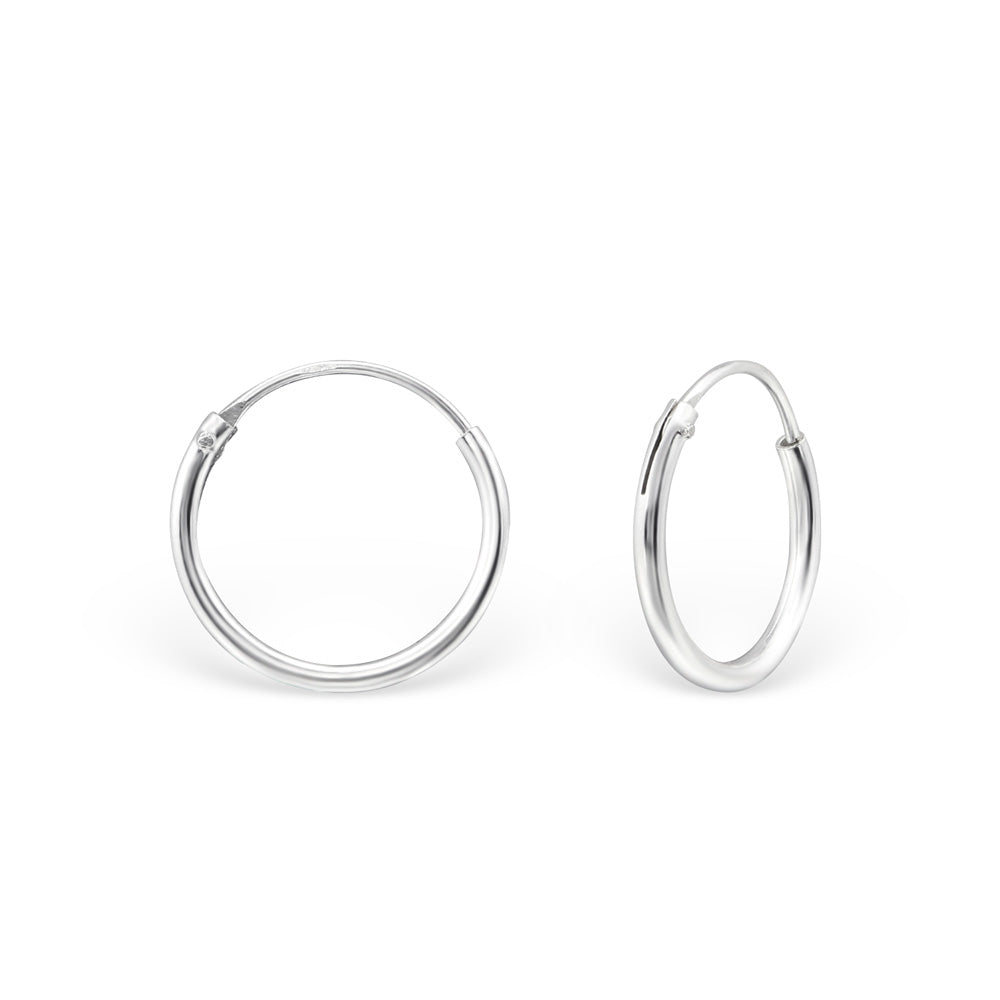 Sterling Silver 12mm Hoop Earrings