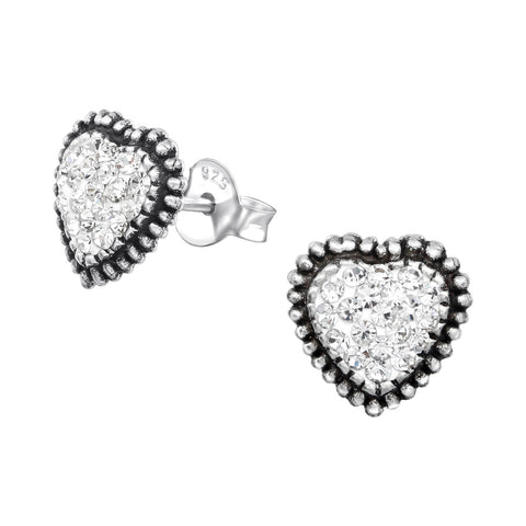 Melchior Jewellery Sterling Silver Small Open Heart Stud Earrings