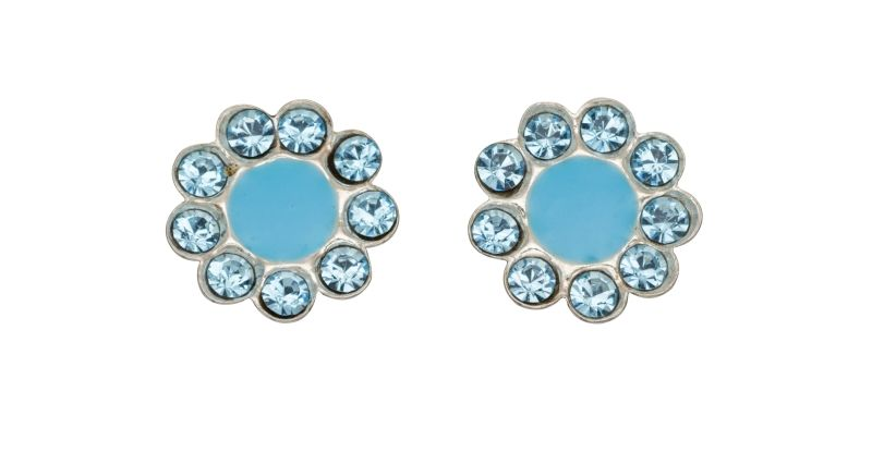 658cc91b8 Sterling Silver Girls Aqua Flower Stud Earrings – Melchior Jewellery
