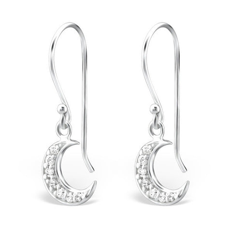 Melchior Jewellery Sterling Silver Clear Cubic Zirconia Curved Studs