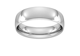 Sterling Silver 6mm D Shape Thick Wedding Band Ring