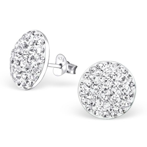 16387007b Sterling Silver Round Stud Earrings With Crystals – Melchior Jewellery