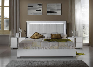 Italian High Gloss White Or Grey Premium Quality Complete Bedroom