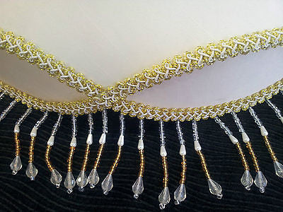 "Fancy Beaded with Lace 12"" 14"" 16"" 18"" Floor Table Lamp Light Shade Lampshade"