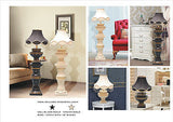"Mabel Cream-Gold, Black-Gold Lamp with Diamante and 16"" Fancy shade"