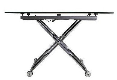 Height Adjustable 2 in 1 Coffee & Dining Table on Wheels comes Ready Assembled