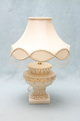 "Open image in slideshow, BELINDA Lamp | Available in Cream-Gold, Black-Gold | With Diamante and 16"" Fancy Shade 