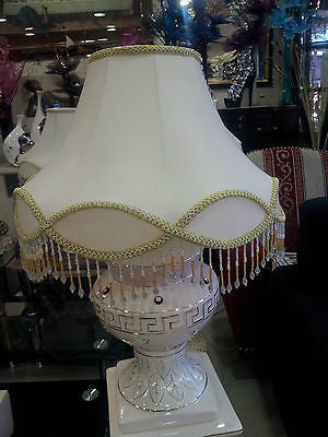 "Open image in slideshow, Fancy Beaded Lamp With Lace | Available Sizes: 12"", 14"", 16"" or 18"" 