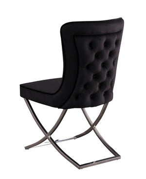 Open image in slideshow, VITTORIA | 2 x Luscious Velvet Chair | Available in Black and Grey Velvet |