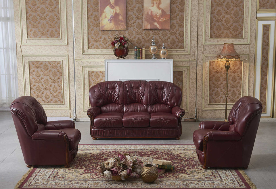 Remarkable Genuine Leather Burgundy Sofa Available 3 1 1 Machost Co Dining Chair Design Ideas Machostcouk