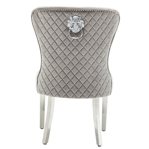 BIANCA | Stunning Velvet Chair | Available in Black and Grey Velvet