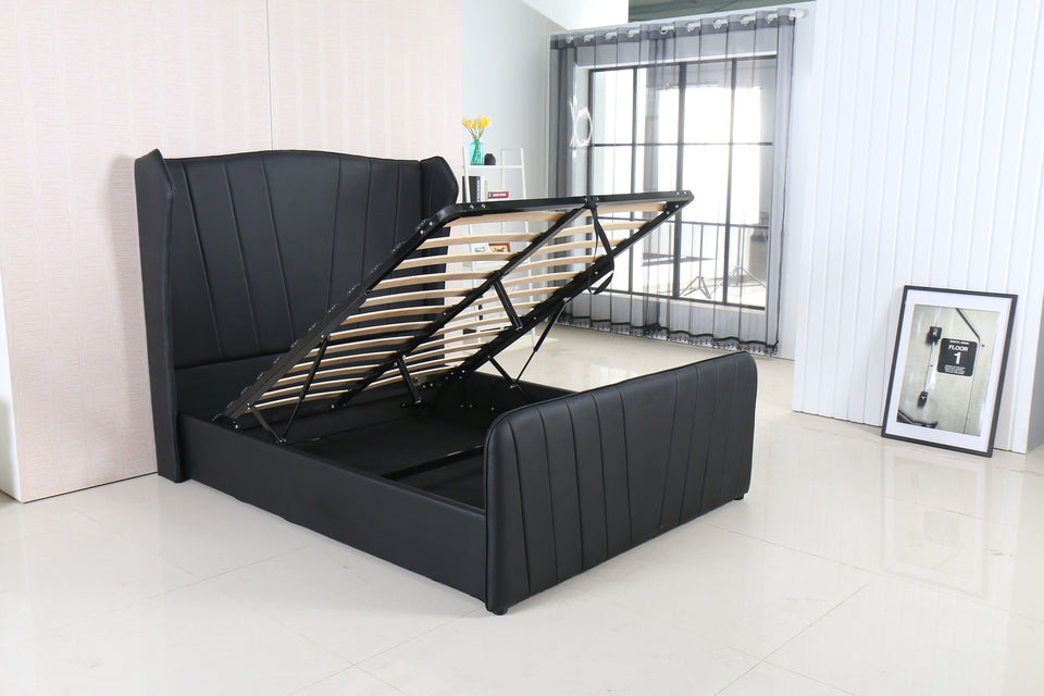 Prime Modernique Vero High Headboard Ottoman Storage Bed Double And King Sized Available In Black Brown And White Ocoug Best Dining Table And Chair Ideas Images Ocougorg