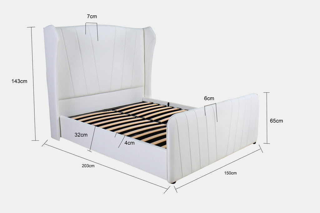 Astonishing Modernique Vero High Headboard Ottoman Storage Bed Double And King Sized Available In Black Brown And White Ocoug Best Dining Table And Chair Ideas Images Ocougorg