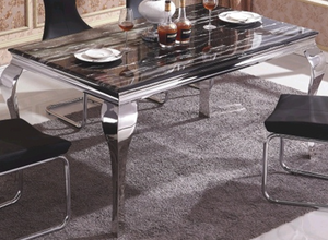Open image in slideshow, MARMO BLACK | 180cm Dining Table With 6 Chairs | Matching Coffee Table Available |