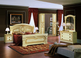 Camel Aida bedroom sets in Pietra, Gold, Silver, White-Silver in three different sizes, Made in Italy.