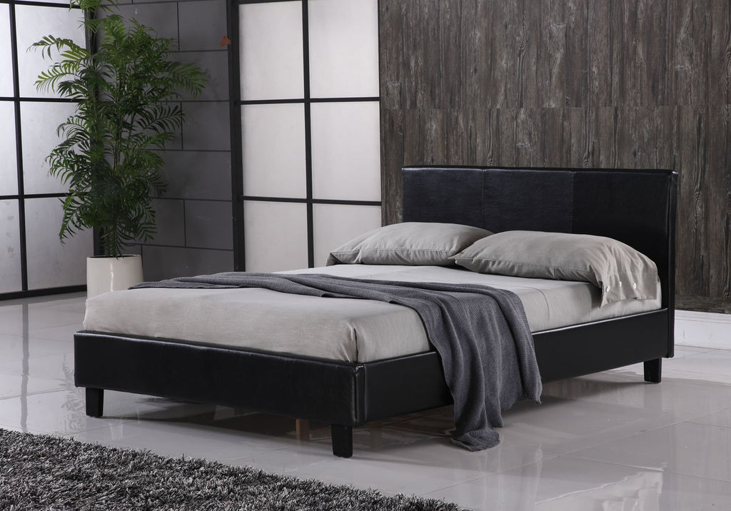 Black or Brown Faux Leather Storage Bed in Single(3ft) Small Double(4ft & Black or Brown Faux Leather Storage Bed in Single(3ft) Small Double ...