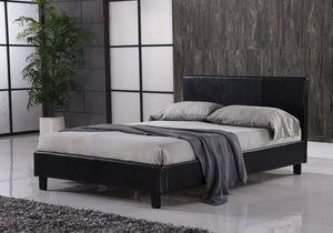 Open image in slideshow, FAUX LEATHER | Bed Sizes: Small Double (4ft) and Standard Double (4ft6) | Colours: Black and Brown |