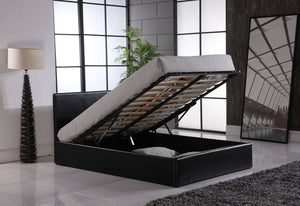Open image in slideshow, OTTOMAN | Faux Leather Storage Bed | Colours: Black, Brown and White | Sizes: Single (3ft), Small Double (4ft), Standard Double (4ft6), King (5ft) and Super-King (6ft) |