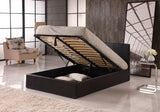 Black or Brown Faux Leather Storage Bed in Single(3ft) Small Double(4ft) Standard Double(4ft6) King(5ft)