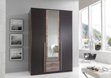 Lava Oak German Made Wardrobe in 3 and 4 Doors with Mirrors and Drawers