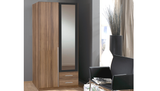 German Wimex Wardrobe 2 Door with Mirror and Matching Chester, Bed side cabinet on sale.