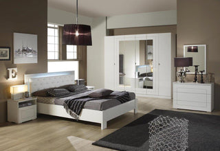 Italian High Gloss White Premium Quality Complete Bedroom Sets Made