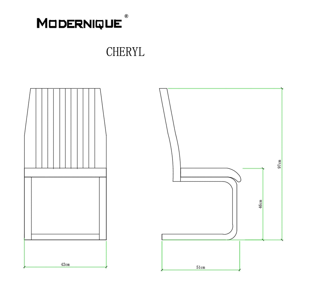 MODERNIQUE® 4 x Cheryl Dining Chairs Modern Faux Leather in Black Brown Beige White Chrome Legs